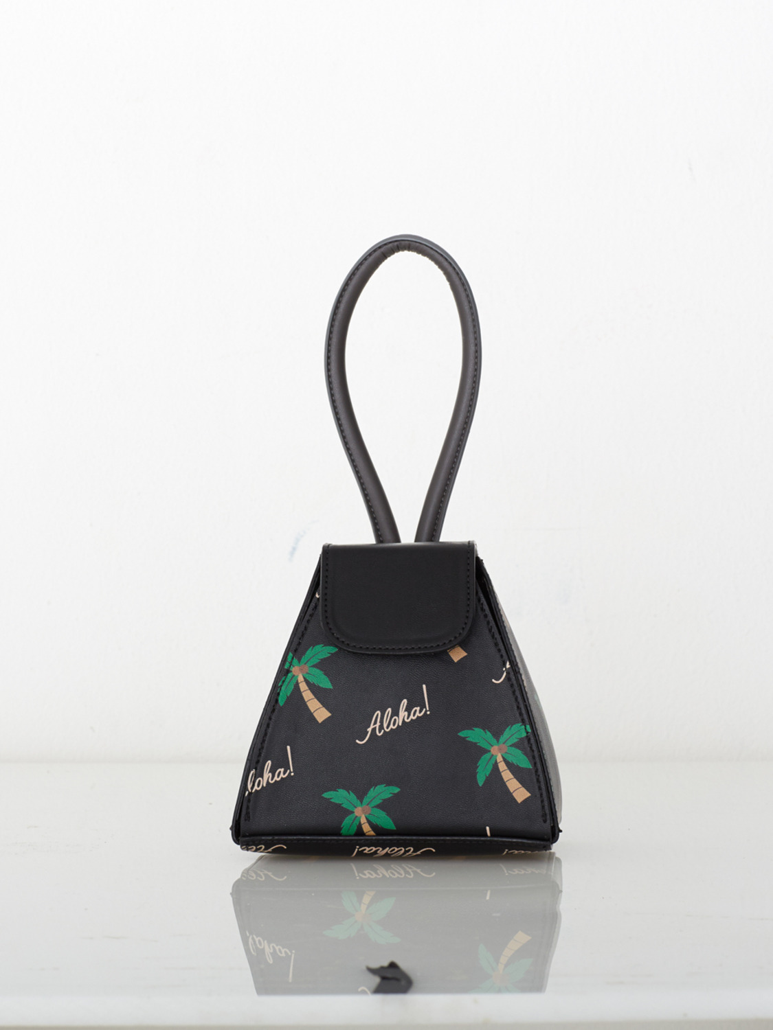 ATELIER PARK x O!Oi PALM TREE HANDLE BAG_BLACK