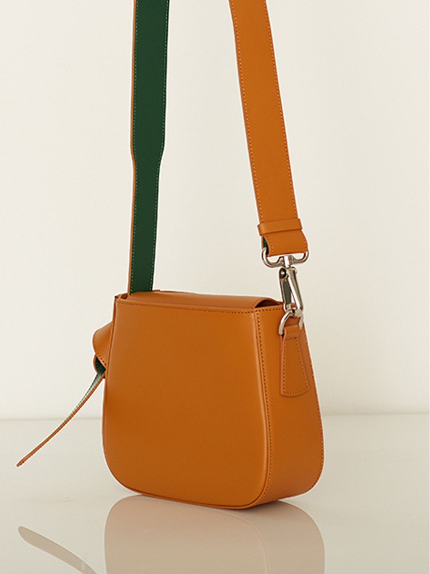 ATELIER PARK COLOR BLOCK BAG - MINI CAMEL