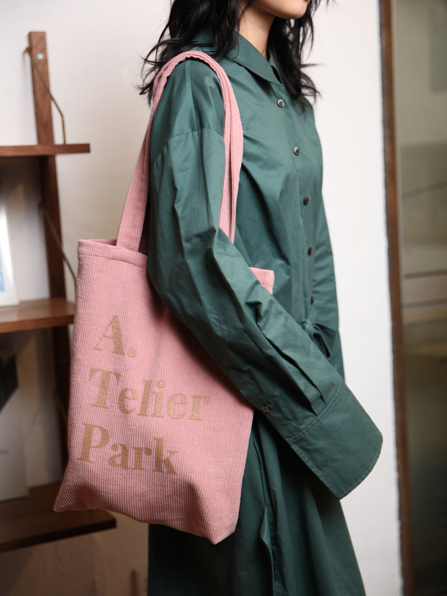 ATELIER PARK EASY COTTON BAG - PINK