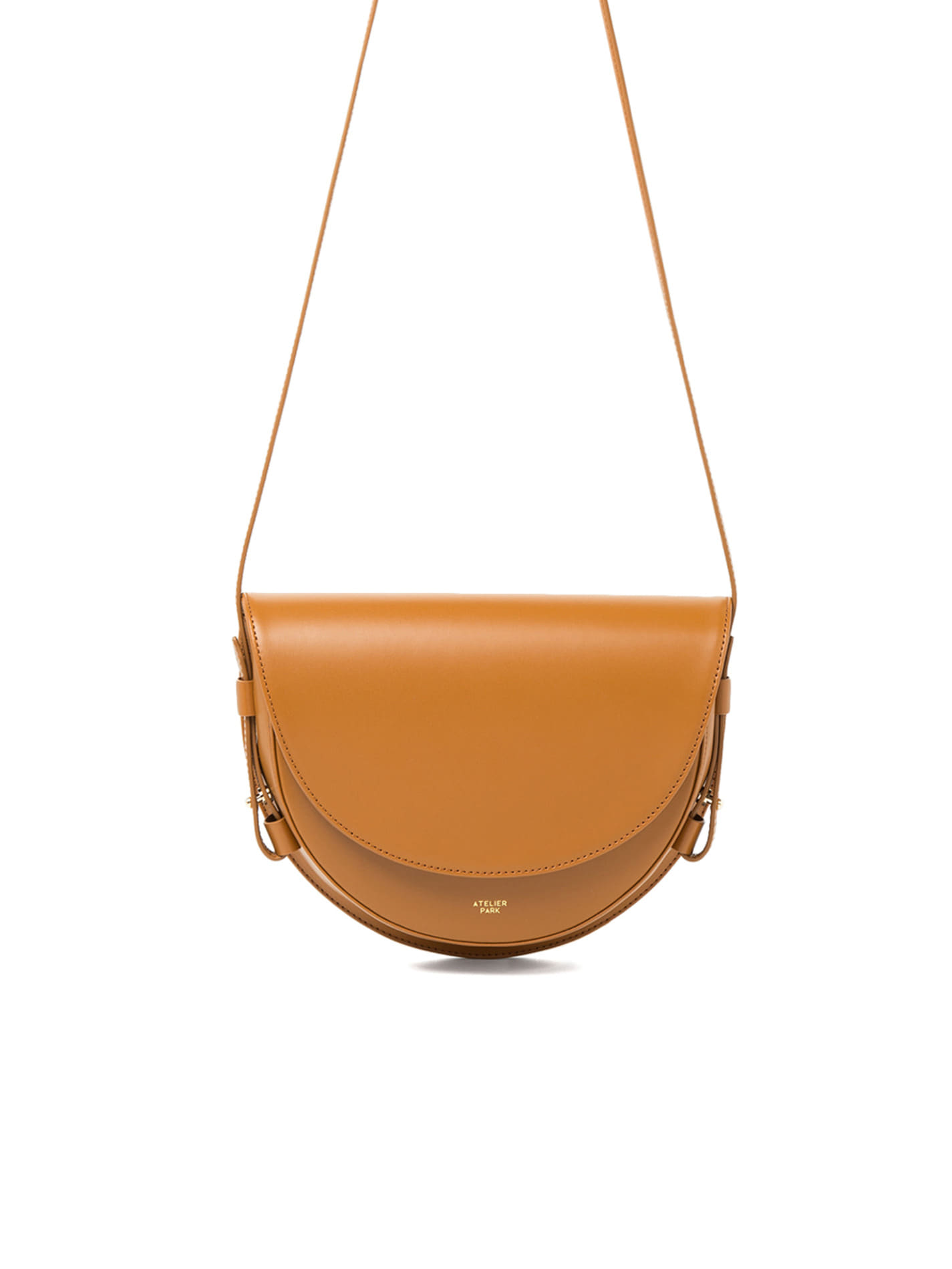 COW LEATHER LAMI BAG - CAMEL