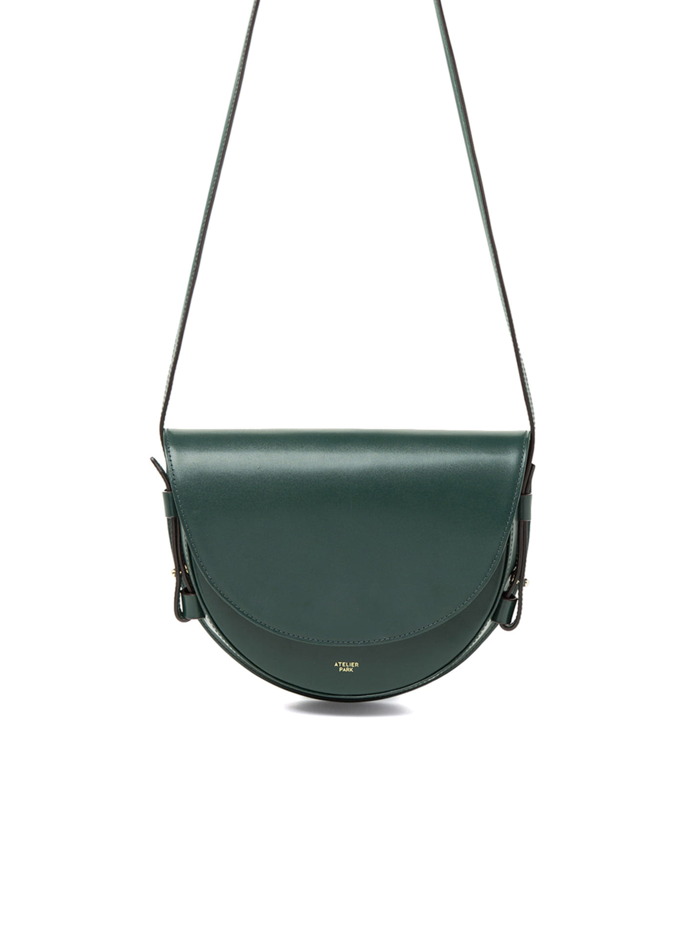 COW LEATHER LAMI BAG - DEEP GREEN