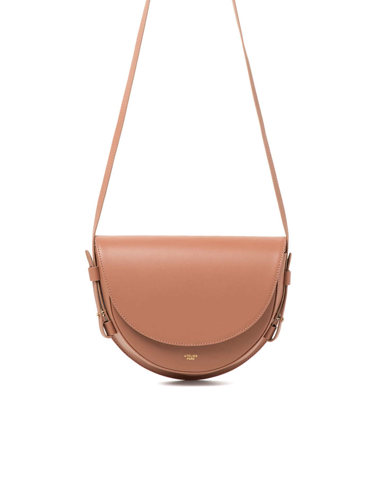 COW LEATHER LAMI BAG - PINK