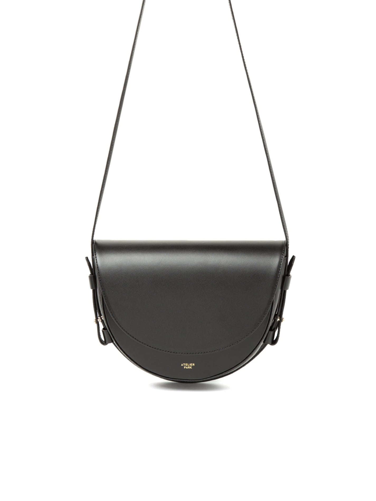 COW LEATHER LAMI BAG - BLACK