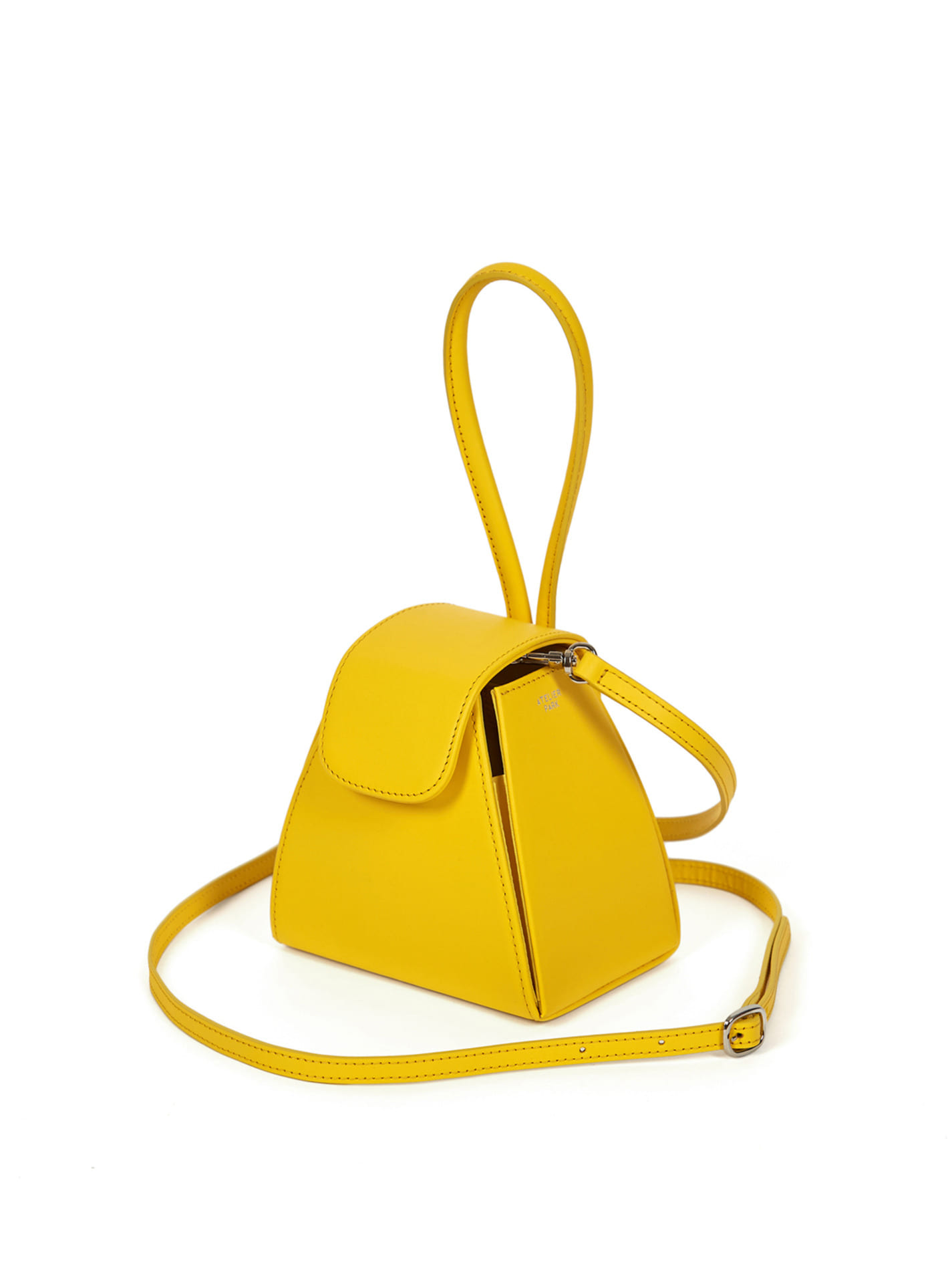 ATELIER PARKCOLOR BLOCK HANDLE BAG -YELLOW (레더스트랩포함)