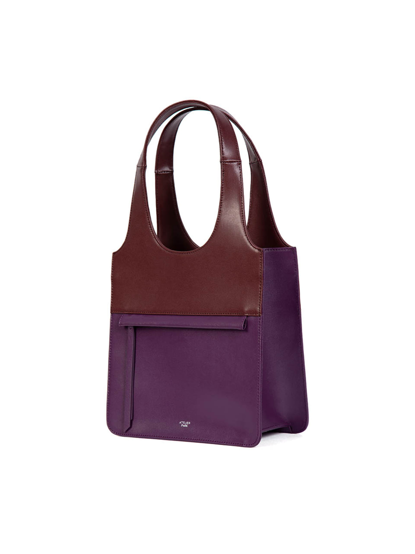 LINE TOTE BAG - MINI _ Purple