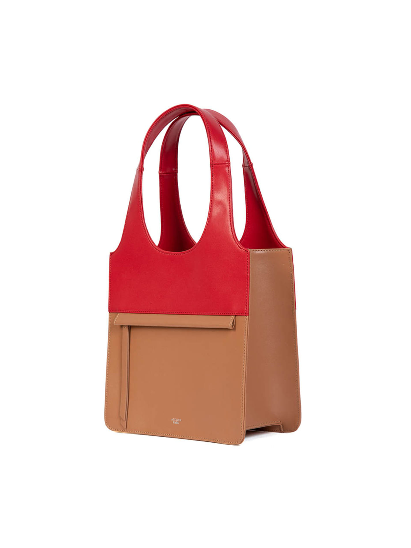 LINE TOTE BAG - MINI _ Beige