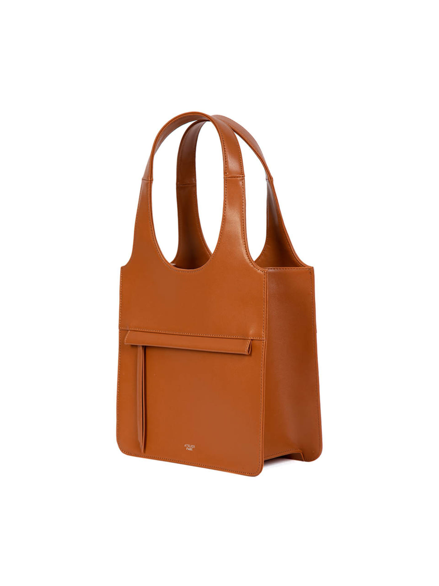 LINE TOTE BAG - MINI _ Camel