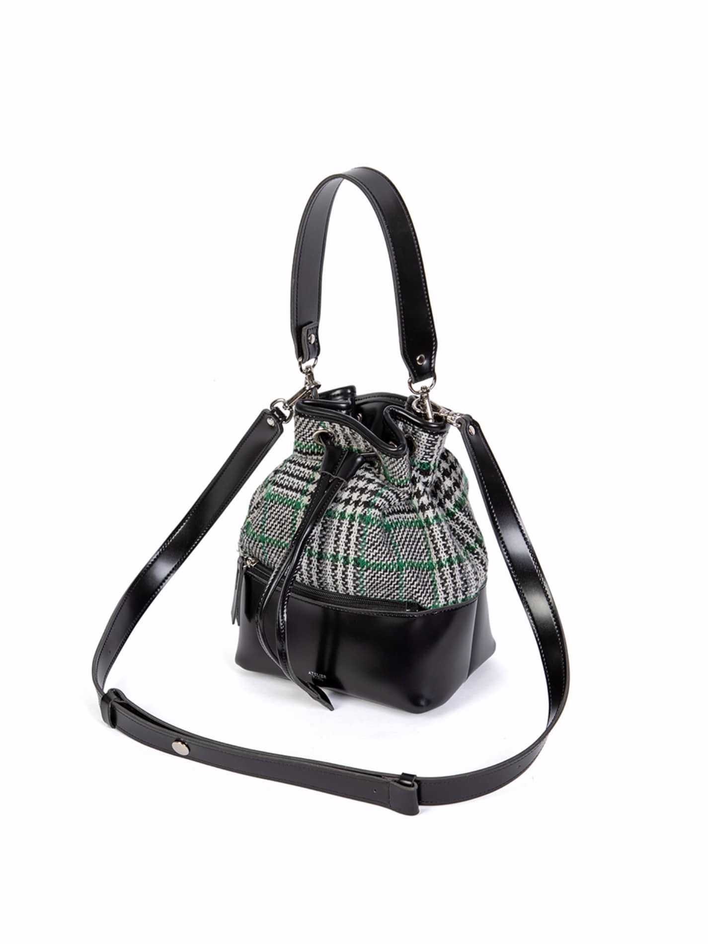 GEO BUCKET BAG _ BLACK