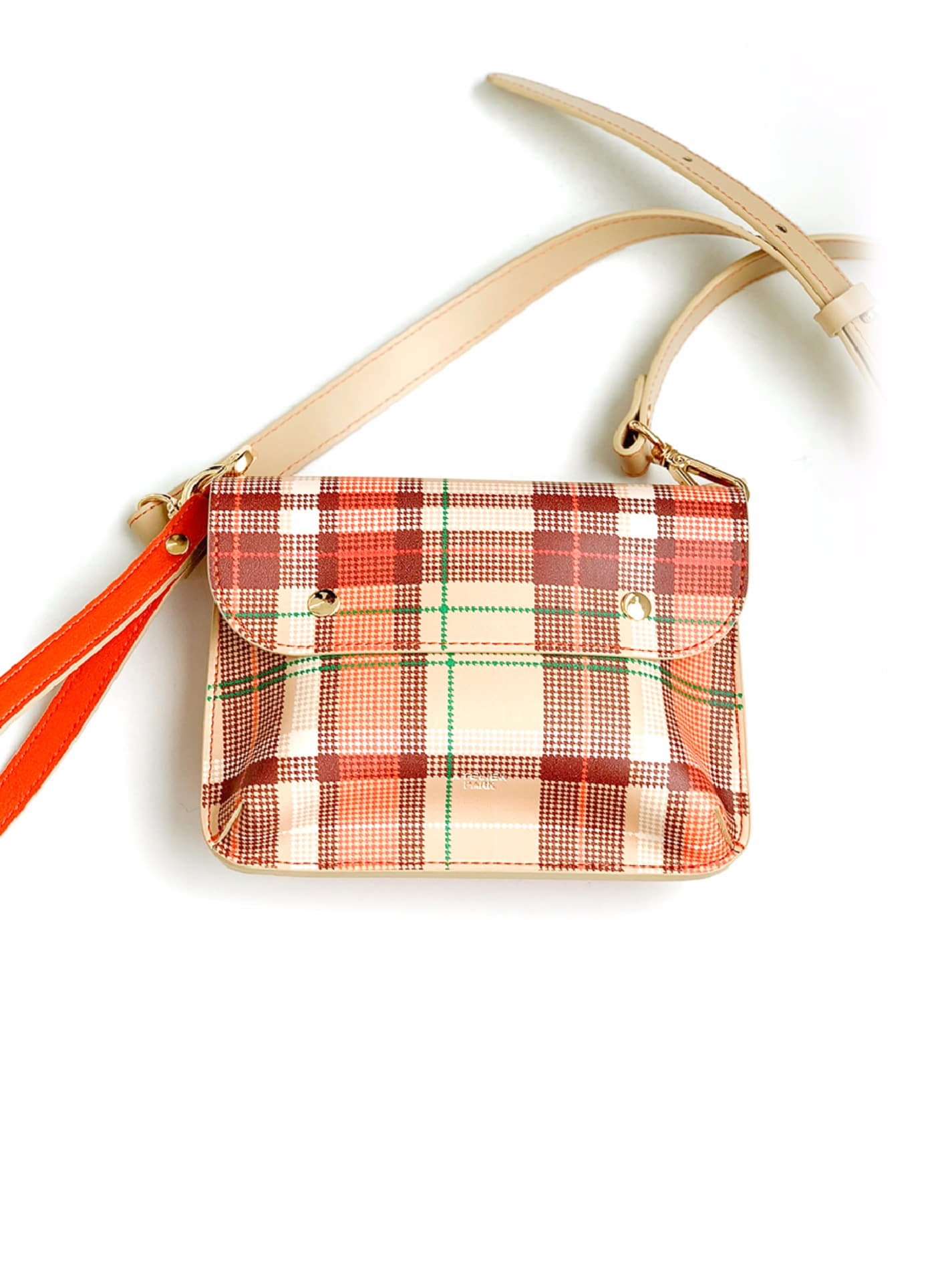 DOUBLE SIDE BAG_BEIGE CHECK / 재입고 예정 없음