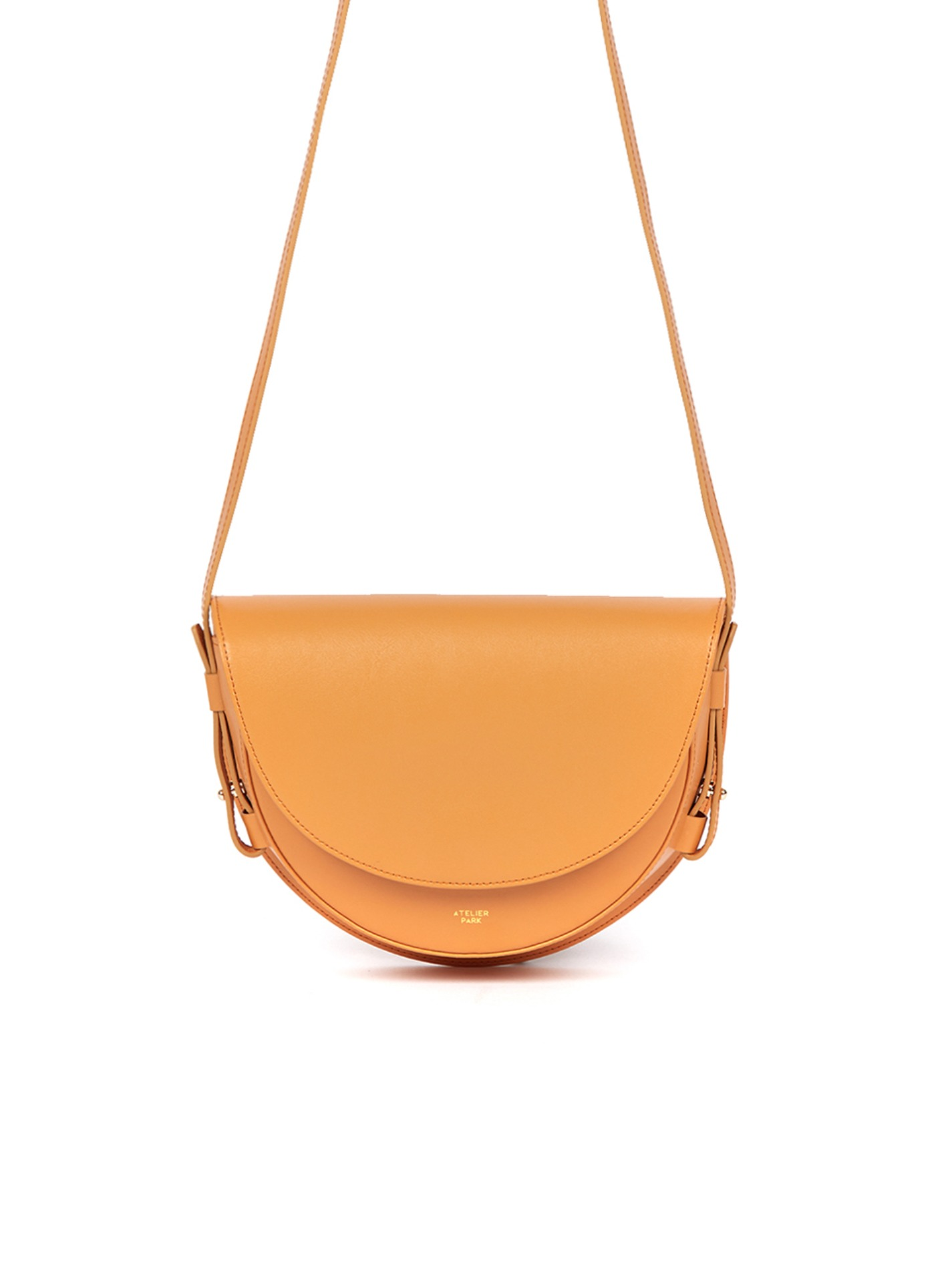 COW LEATHER LAMI BAG - MUSTARD