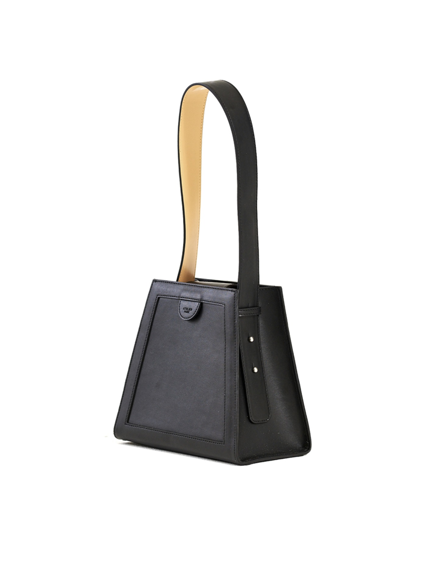 GEO BAG_BLACK/BEIGE