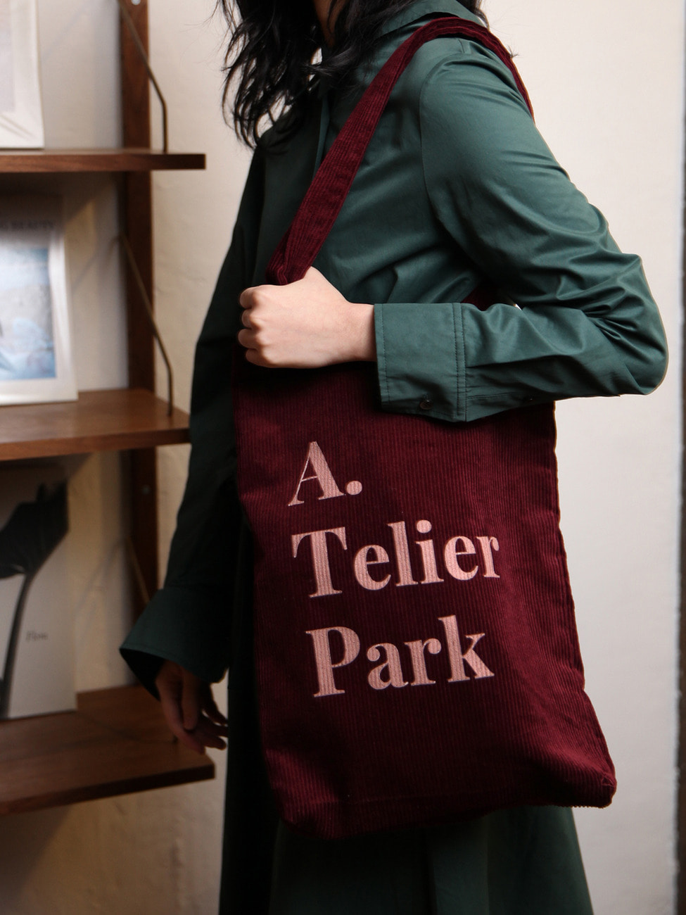 ATELIER PARK EASY COTTON BAG - BURGUNDY