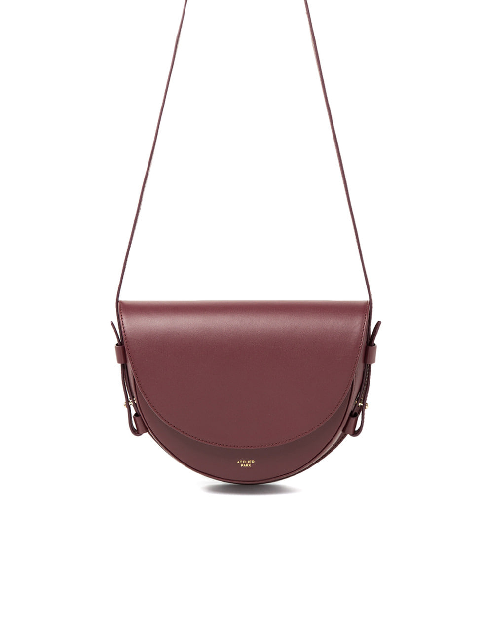 COW LEATHER LAMI BAG - BURGUNDY