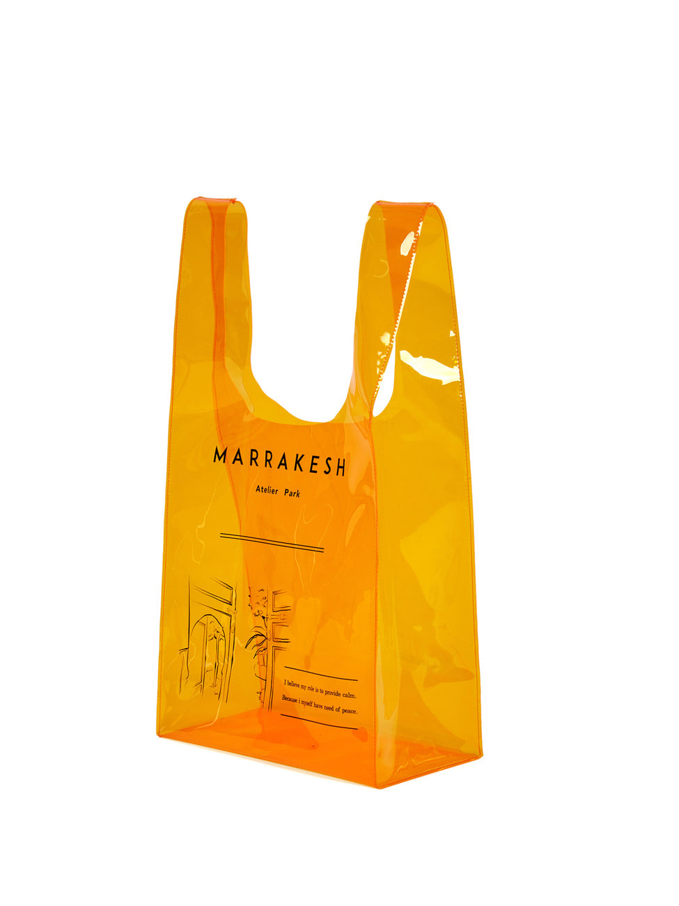 MARRAKESH LINE  SHEER BAG_ ORANGE  [Summer Sale -50%]