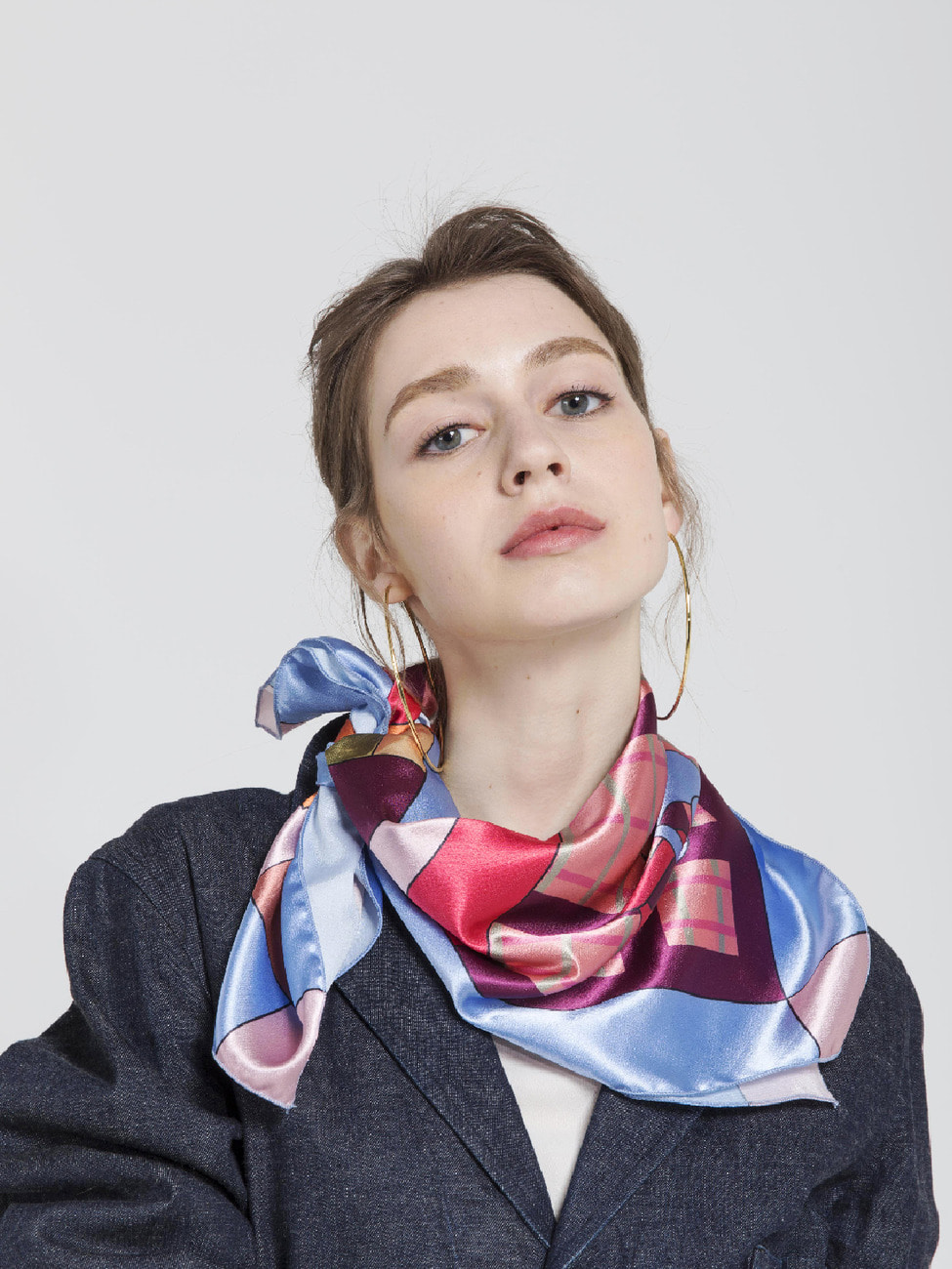 Glass Scarf _ Sky Blue