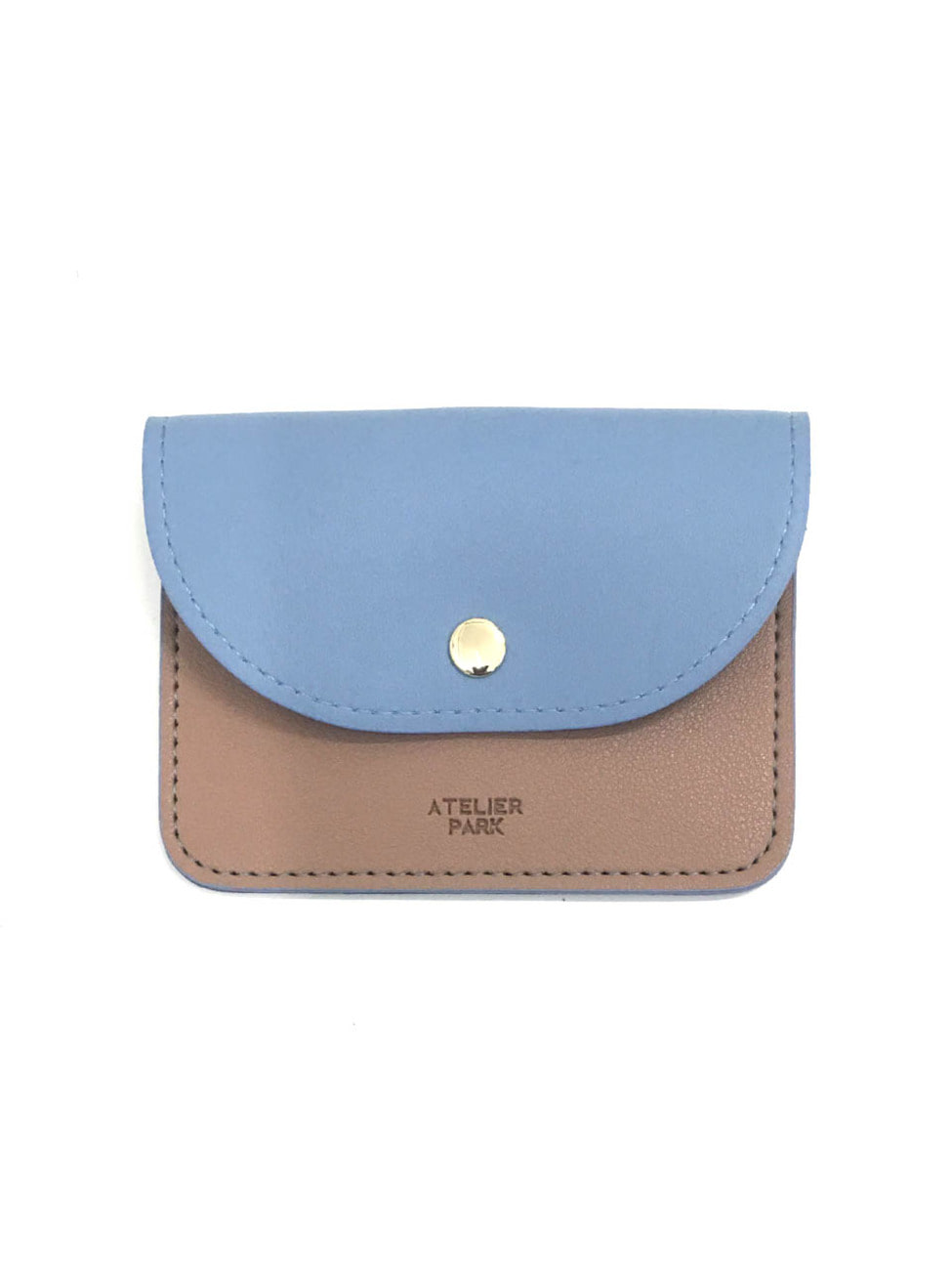 EASY WALLET _BEIGE/SKY BLUE