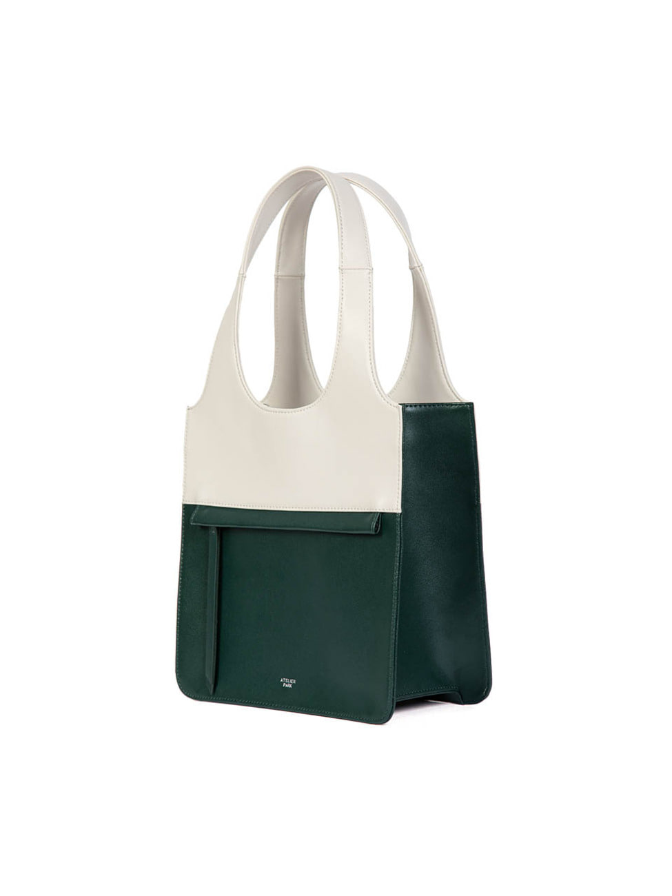 LINE TOTE BAG - MINI _ Deep green