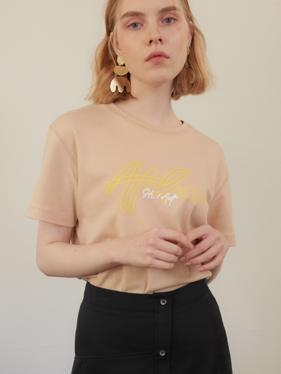 Hi Art T-Shirt _Beige