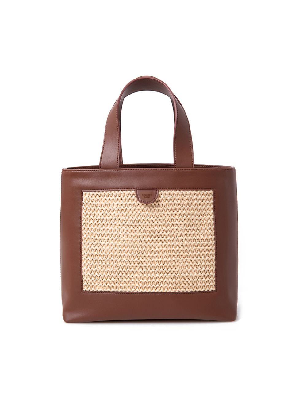 Geo Tote Bag _ Brown