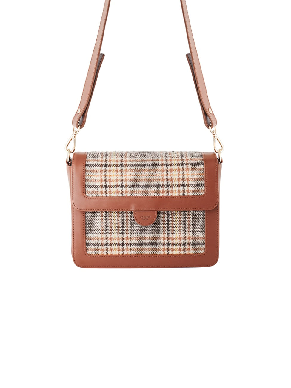 GEO CHECK BAG_BROWN