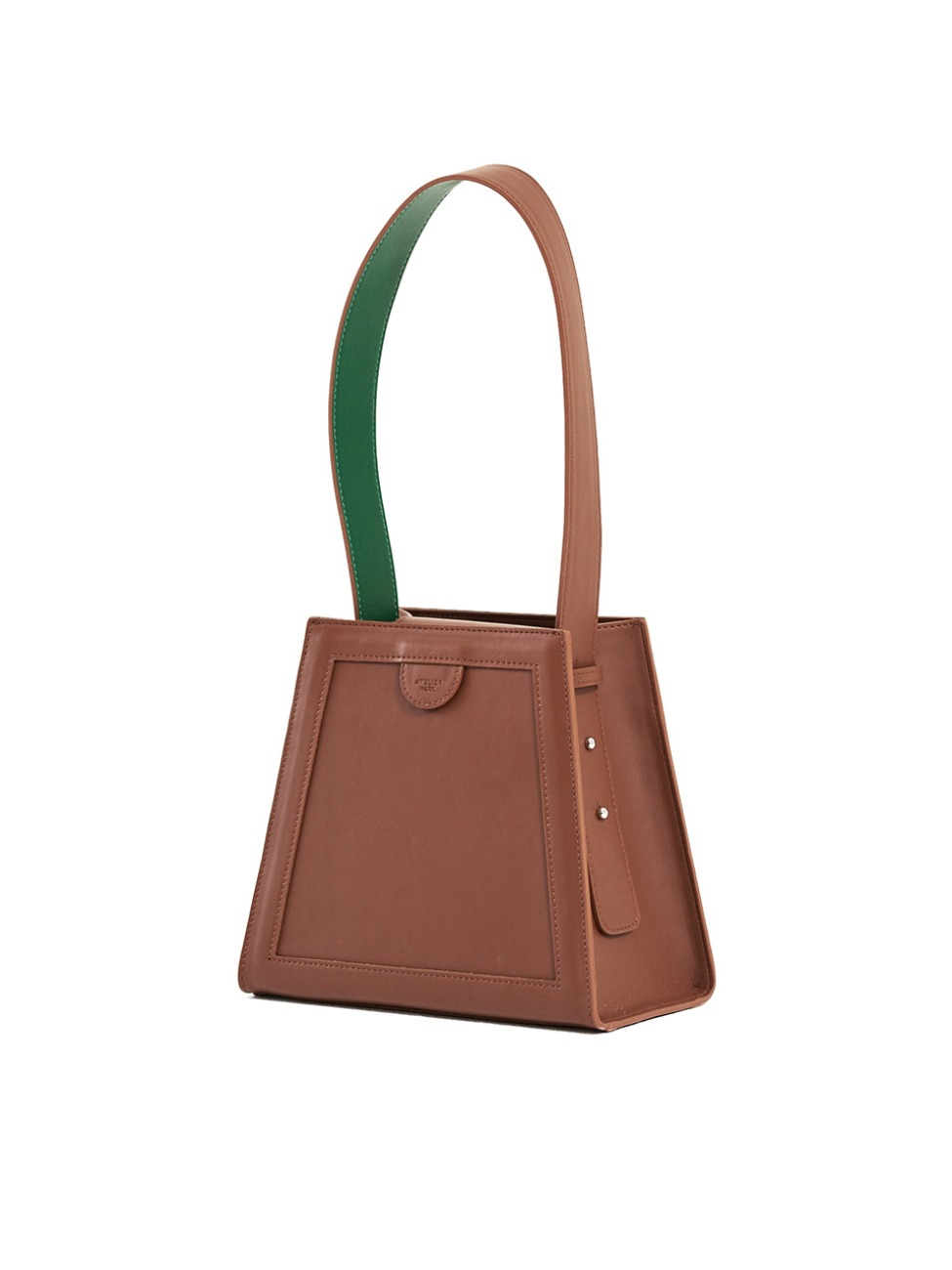 GEO BAG_BROWN/GREEN